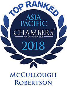 Chambers and Partners Asia-Pacific Top Ranked Firm McCullough Robertson