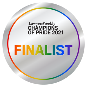 Lawyers Weekly Champions of Pride Finalist 2021