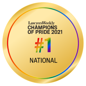 Lawyer's Weekly Champions of Pride National Winner
